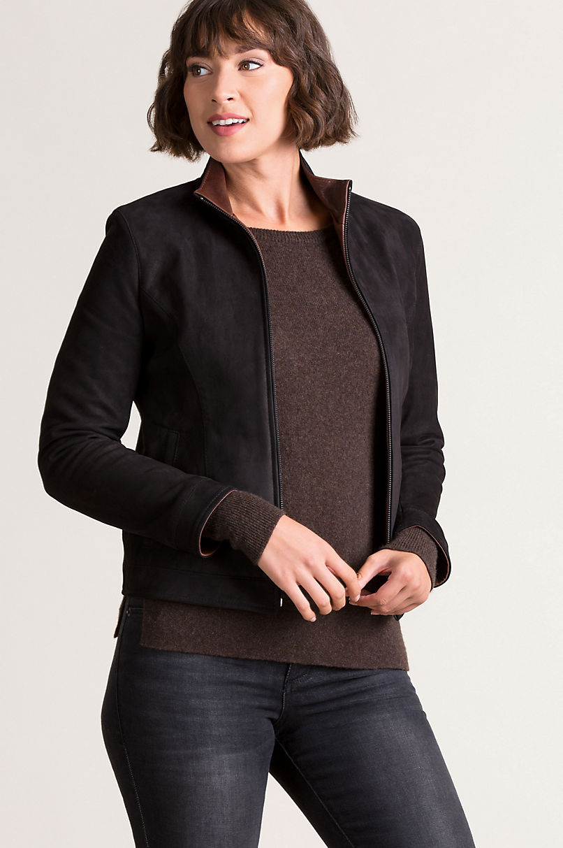 Molly Italian Nubuck Lambskin Suede Jacket