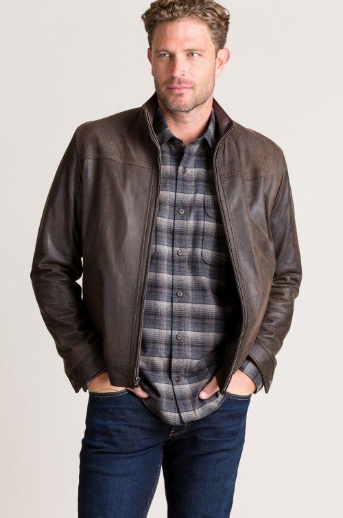 Thomas Distressed Italian Lambskin Leather Jacket