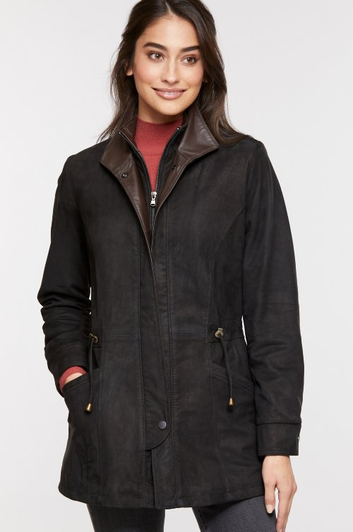 Juniper Lambskin Leather Coat