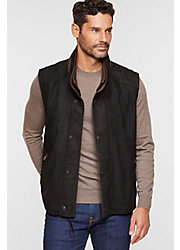Falcon Buffed Lambskin Leather Vest