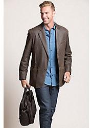 Beaumont Patina Lambskin Leather Blazer