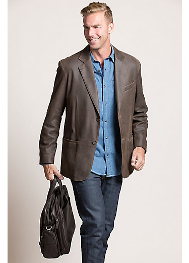 Beaumont Patina Lambskin Leather Blazer