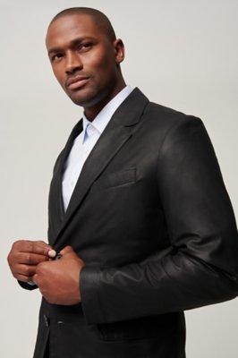 Coltrane Lambskin Leather Blazer