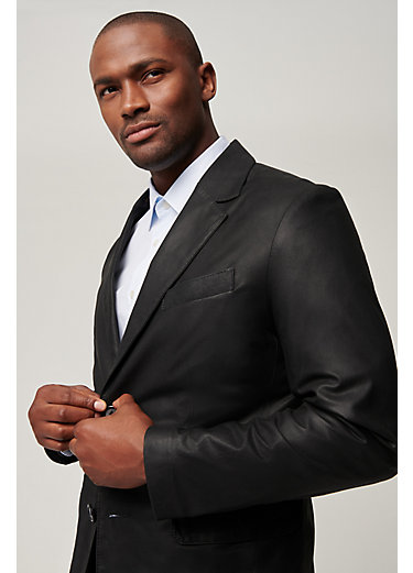 Coltrane Lambskin Leather Blazer