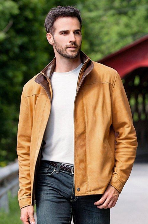 Tucson Italian Lambskin Leather Jacket