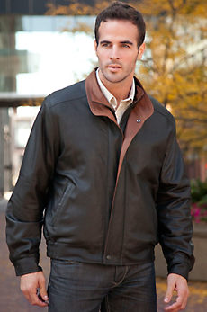 Landon Lambskin Leather Bomber Jacket - Big (48 - 52)