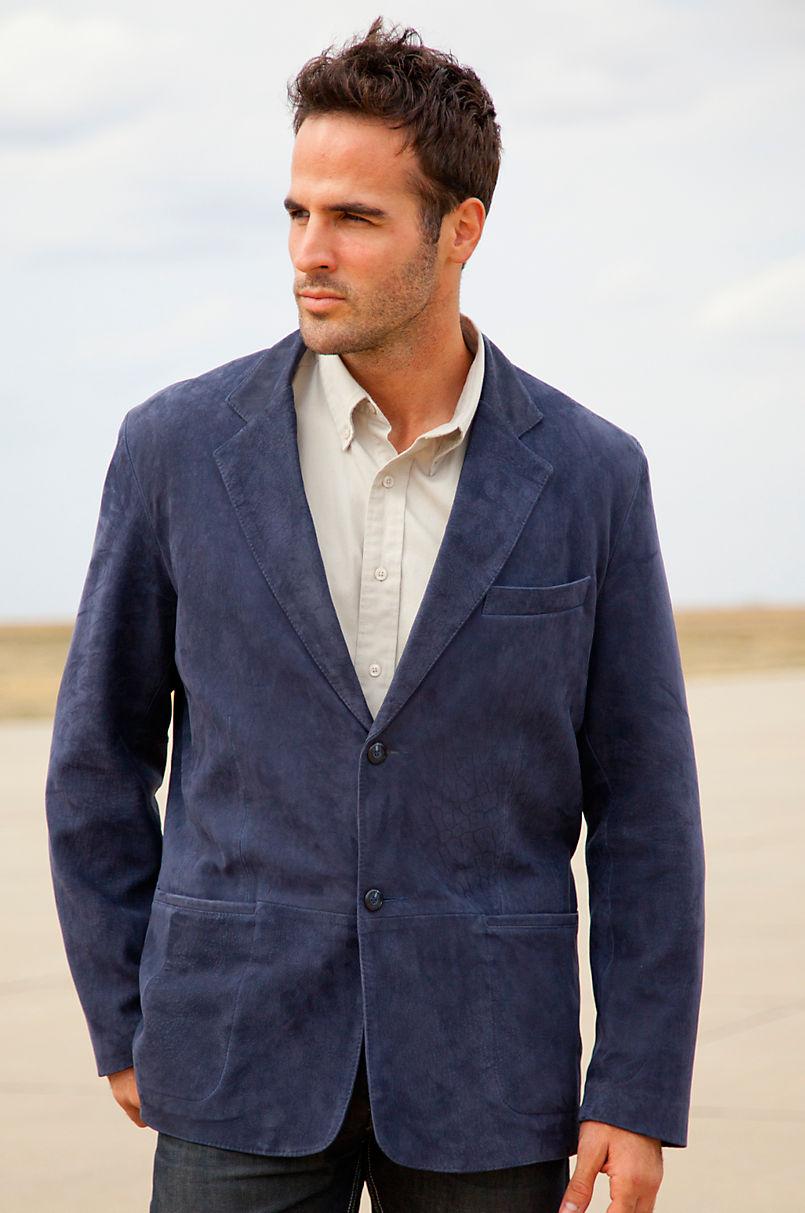 Men's Beaumont Lambskin Leather Blazer