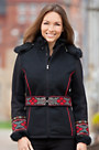 Dale of Norway Vinje Wool-Blend Ski Jacket with Rabbit Fur Trim