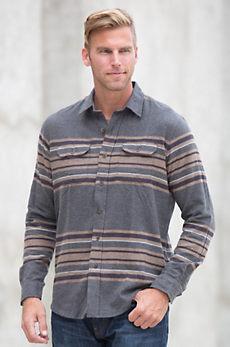 Tailor Vintage Blanket Stripe Cotton Flannel Shirt