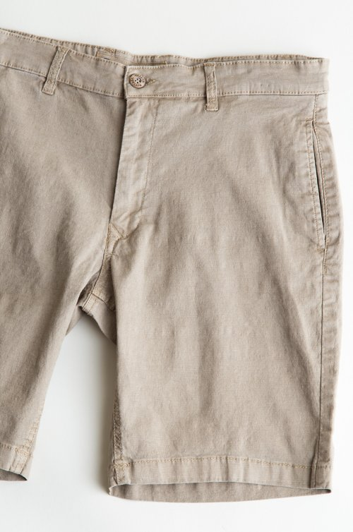 Men's Tailor Vintage Slim Linen and Cotton Walking Shorts