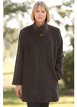 Emmaline Alpaca-Blend Wool Coat (Women's)