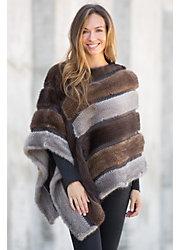 Samantha Knitted Danish Mink Fur Poncho