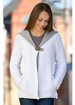 Pure Handknit Studio Classic Cotton Hoodie Sweater