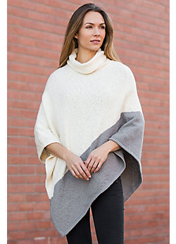 Two-Tone Organic Cotton Poncho