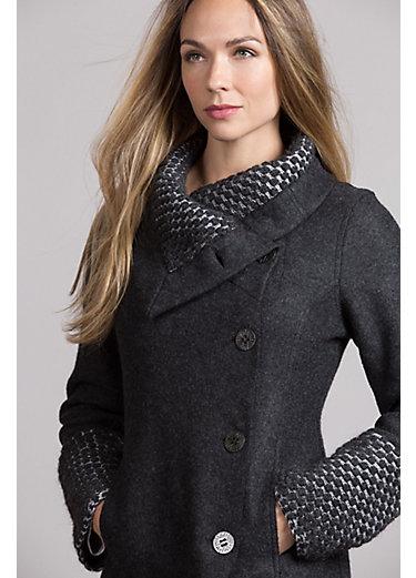 Winter Alpaca Wool-Blend Coat