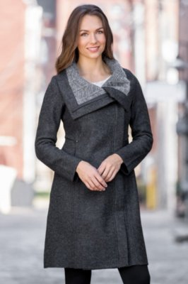Indigenous Luxe Collar Alpaca Wool-Blend Coat