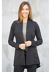 Weekender Organic Cotton Open Cardigan Sweater