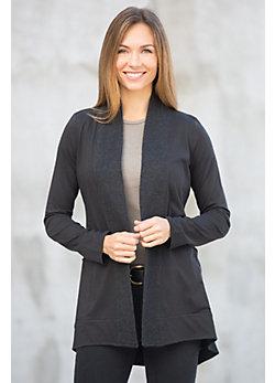Weekender Organic Cotton Open Cardigan Sweater