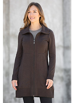 Modern Peruvian Organic Cotton Sweater Jacket