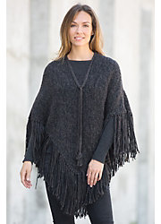 Eileen Peruvian Alpaca and Organic Cotton Poncho