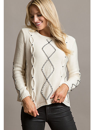 Candice Organic Peruvian Cotton-Blend Pullover Sweater