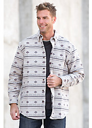 Southwest Woven Cotton Shirt Jacket