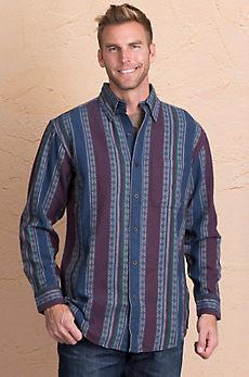 Striped Woven Cotton Shirt Jacket