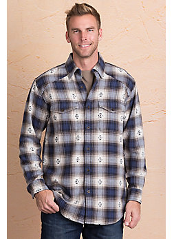 Plaid Woven Cotton Shirt Jacket