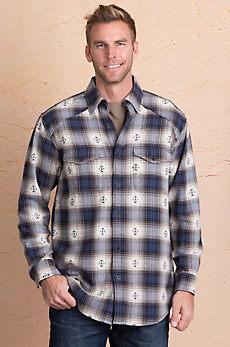 Plaid Woven Cotton Shirt Jacket