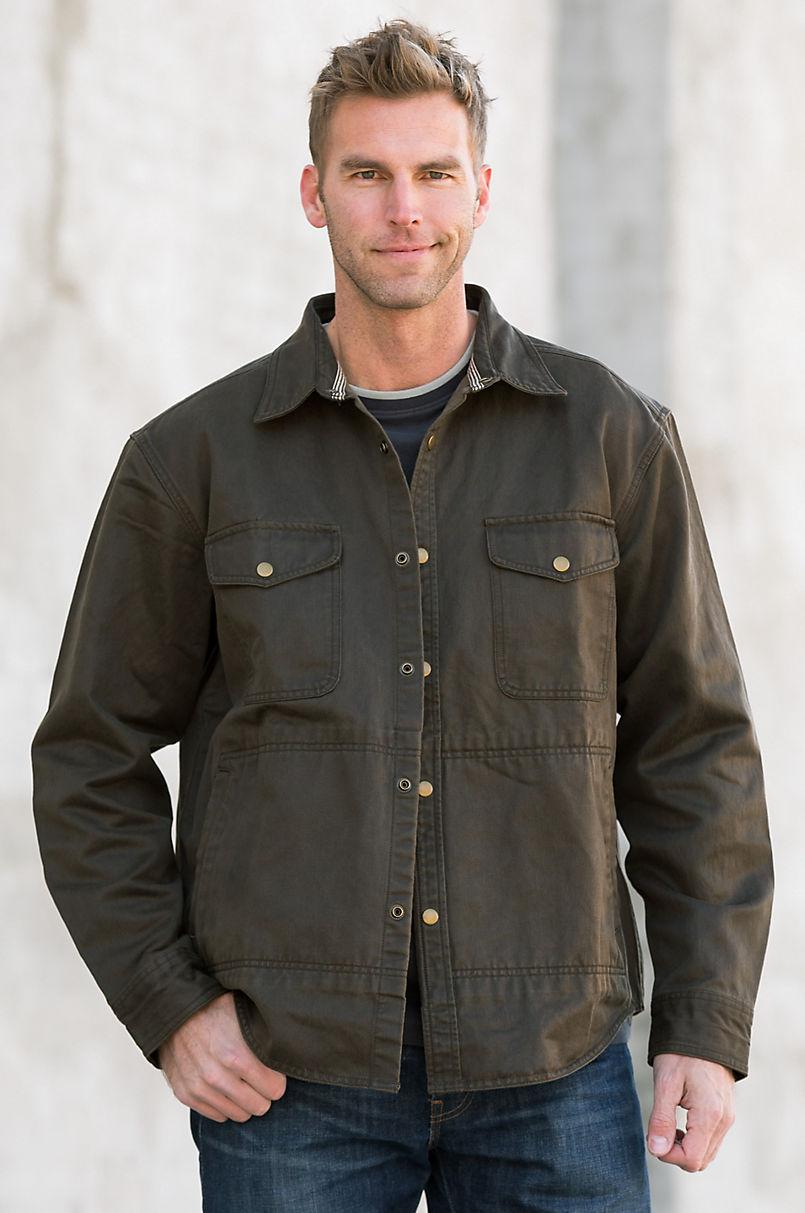 99ef9fd9aa366 Edgar Coated Cotton Shirt Jacket