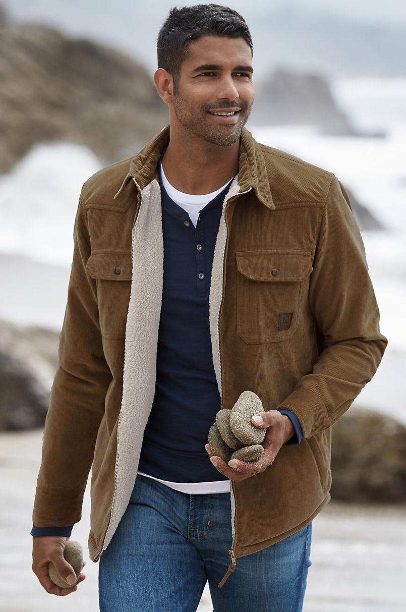Nash Sherpa-Lined Corduroy Shirt Jacket