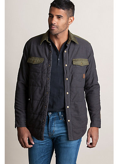 Walker Quilted Flannel Cotton Shirt Jacket