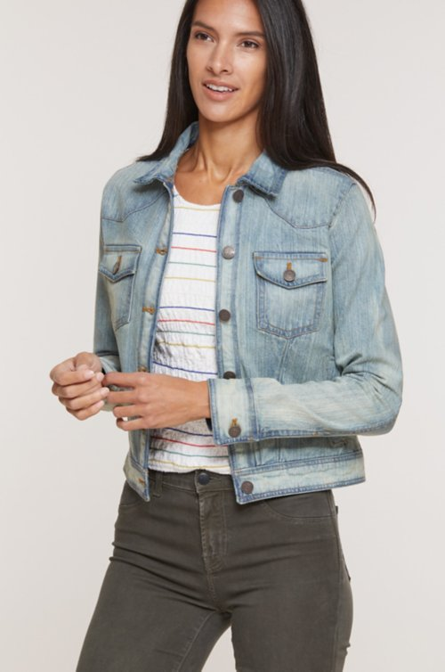 Brook Washed Denim Jean Jacket