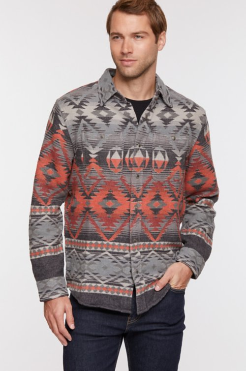 Addax Jacquard Cotton Western Shirt