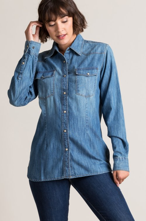 Kayleen Denim Western Shirt