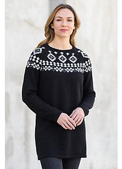 Lynsey Peruvian Alpaca Wool Tunic Sweater
