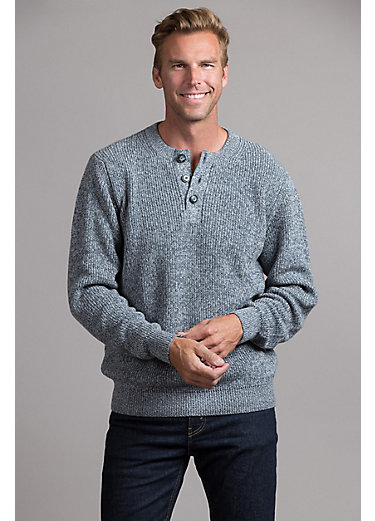 Dante Peruvian Cotton Henley Crew Sweater