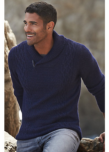 Portland Alpaca Wool Fisherman's Sweater