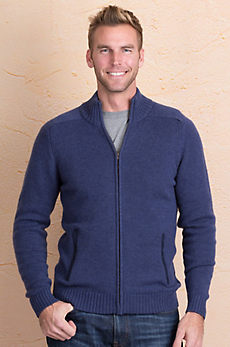 Logan Merino Wool and Cashmere Cardigan Sweater