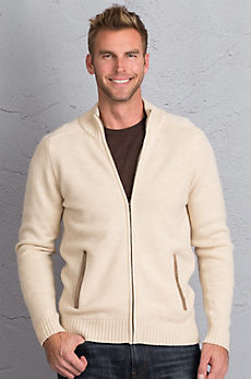 Logan Merino Wool and Cashmere Cardigan Sweater