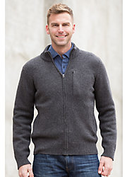 Lincoln Sheep and Yak Wool Cardigan Sweater