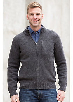 Lincoln Yak Wool-Blend Cardigan Sweater
