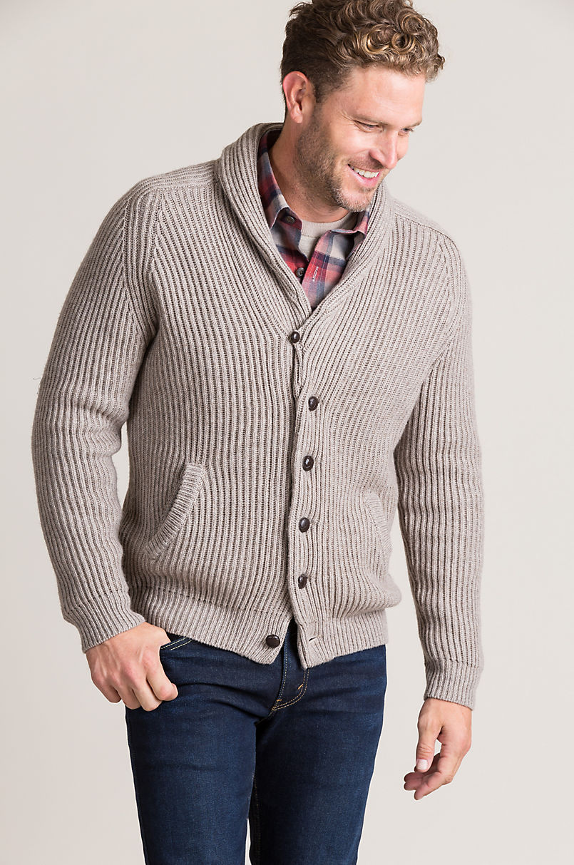 f3998da96 Stefan Cashmere-Blend Cardigan Sweater | Overland