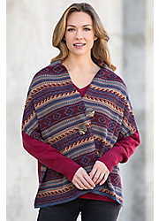 Peruvian Alpaca Wool Button Wrap