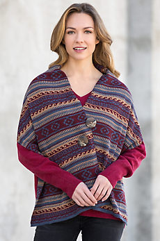 Peruvian Alpaca Wool Button Wrap