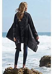 Serenity Reversible Peruvian Alpaca Wool Open Sweater Cape