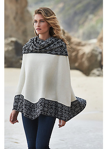 Luciana Baby Alpaca Wool Poncho