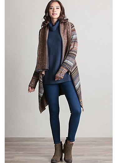 Camila Peruvian Alpaca Wool Open Sweater