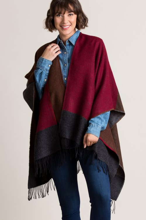 Blair Baby Alpaca Wool Ruana Cape