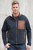 Canterbury Italian Wool-Blend Jacket with Leather Trim